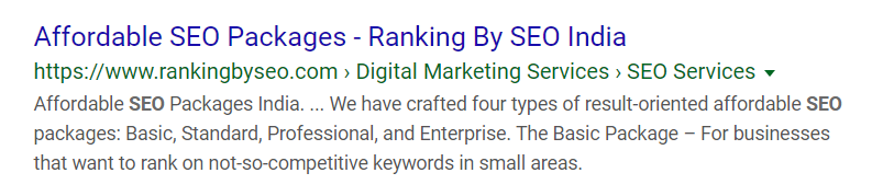 packages rankingbyseo